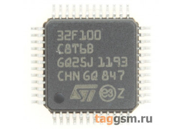 STM32F100C8T6B (LQFP-48) Микроконтроллер 32-Бит, ARM Cortex M3