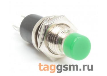PBS-10B-2 / G Кнопка на панель зеленая без фиксации OFF-(ON) 250В 1А (7мм)