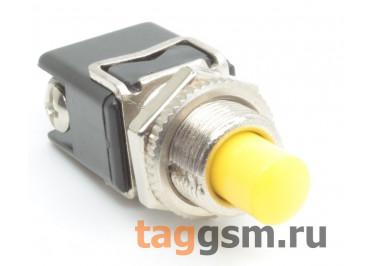 PBS-13B / Y Кнопка на панель круглая жёлтая без фиксации OFF-(ON) SPST 250В 4А (12мм)