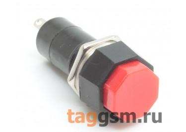 PBS-14B / R Кнопка на панель восемь граней красная без фиксации OFF-(ON) SPST 250В 1А (12мм)