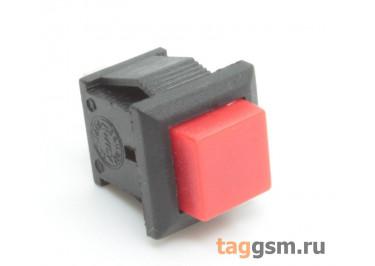 PBS-15B / R Кнопка на панель квадратная красная без фиксации OFF-(ON) SPST 250В 1А (12х10,9мм)