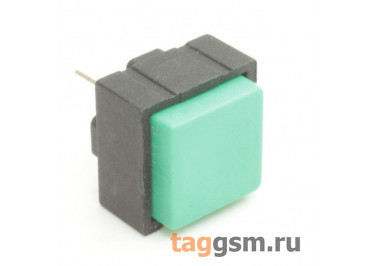 PBS-18B / G Кнопка на плату квадратная зелёная без фиксации OFF-(ON) SPST 50В 0,025А