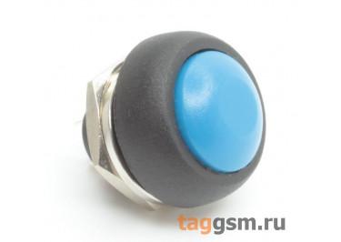 PBS-33B / BL Кнопка на панель круглая синяя без фиксации OFF-(ON) SPST 250В 1А (12мм)