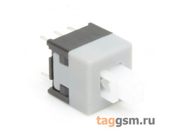 Кнопка миниатюрная 8,5х8,5мм c фиксацией ON-ON DPDT (PS-850L)