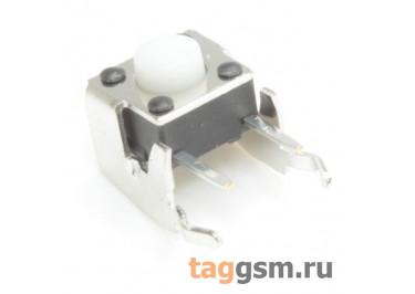 A01-13-B08 Кнопка тактовая угловая 6х6мм h=5мм 2 конт. SPST-NO (Белый)