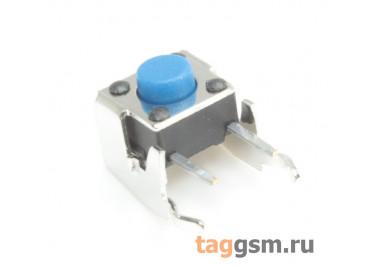 A01-13-C01 Кнопка тактовая угловая 6х6мм h=5мм 2 конт. SPST-NO (Синий)