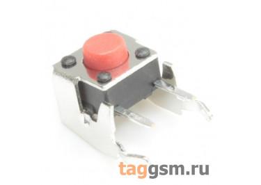 A01-13-D02 Кнопка тактовая угловая 6х6мм h=5мм 2 конт. SPST-NO (Красный)