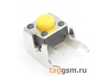 A03-17-M09 Кнопка тактовая угловая 6х6мм h=5мм 2 конт. SPST-NO (Жёлтый)