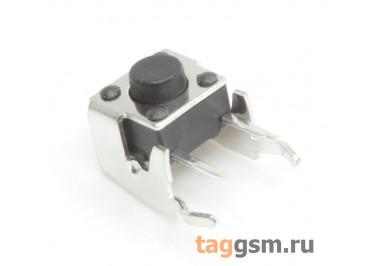 T00-04-F03 Кнопка тактовая угловая 6х6мм h=5мм 2 конт. SPST-NO (Чёрный)