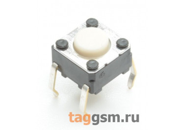 B3F-1000 Кнопка тактовая 6х6мм h=4,3мм 4 конт. SPST-NO