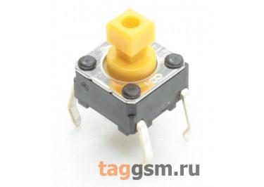 B3F-1052 Кнопка тактовая 6х6мм h=7,3мм 4 конт. SPST-NO