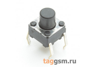 B3F-1060 Кнопка тактовая 6х6мм h=7мм 4 конт. SPST-NO
