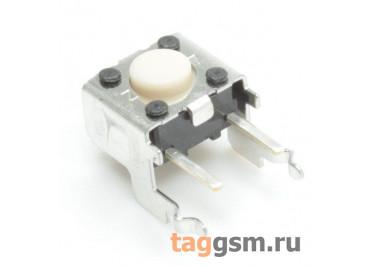 B3F-3100 Кнопка тактовая углавая 6х6мм h=3,15мм 4 конт.(2 GND) SPST-NO