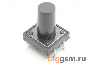 Кнопка тактовая 12х12мм h=15мм 4 конт. SPST-NO