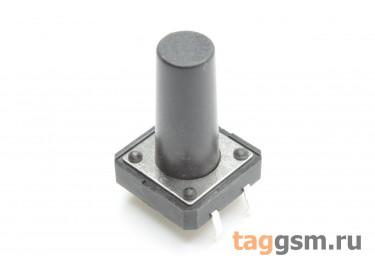 Кнопка тактовая 12х12мм h=18мм 4 конт. SPST-NO
