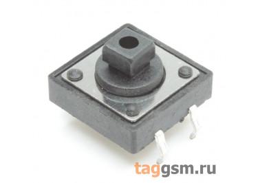 Кнопка тактовая 12х12мм h=7,3мм 4 конт. SPST-NO