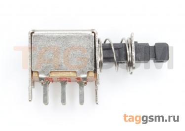 PS-22F03L Кнопочный переклюатель с фиксацией ON-ON DPDT 50В 0,5А