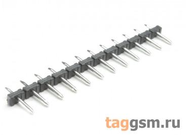 LF332J-5.0-12P (Черный) Вилка штыревая на плату 12 конт. шаг 5мм 300В 10А