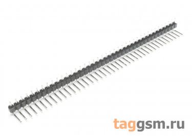 LF612R-2.54-40P-130 [1*40P] (Черный) Вилка штыревая на плату угловая 40 конт. шаг 2,54мм