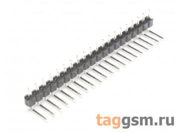 LF612R-2.54-20P-130 [1*20P] (Черный) Вилка штыревая на плату угловая 20 конт. шаг 2,54мм