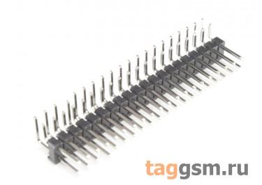 LF612R-2.54-40P-230 [2*20P] (Черный) Вилка штыревая на плату угловая 40 конт. шаг 2,54мм