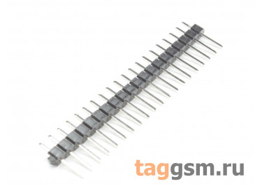 LF612-2.54-20P-130 [1*20P] (Черный) Вилка штыревая на плату 20 конт. шаг 2,54мм