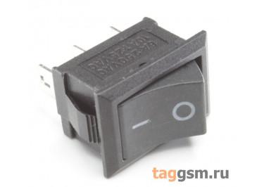 KCD-1201 3P Переключатель на панель черный ON-ON SPDT 250В 6А (18,7х13мм) [MRS-102-2C3-B / B]