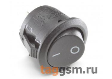 KCD-1218 2P Переключатель на панель круглый черный ON-OFF SPST 250В 6А (20мм) [MRS-101-9C3-B / B]
