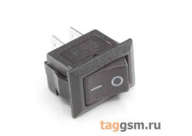 KCD-1229 2P Переключатель на панель черный ON-OFF SPST 250В 1А (13,2х8,8мм) [SMRS-101-1C3-B / B]