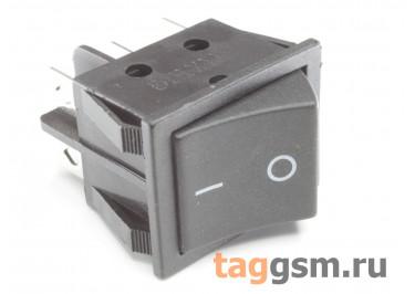 KCD-1265 6P Переключатель на панель чёрный ON-ON DPDT 250В 16А (28,2х21,5мм)