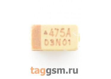 TAJA475K010R (CASE A) Конденсатор танталовый SMD 4,7 мкФ 10В 10%