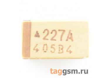 TAJC227K010R (CASE C) Конденсатор танталовый SMD 220 мкФ 10В 10%