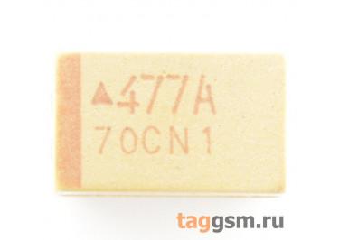 TAJE477K010R (CASE E) Конденсатор танталовый SMD 470 мкФ 10В 10%