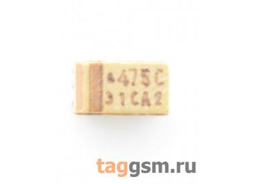 TAJA475K016R (CASE A) Конденсатор танталовый SMD 4,7 мкФ 16В 10%