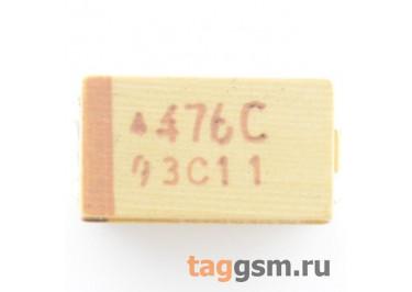 TAJC476K016R (CASE C) Конденсатор танталовый SMD 47 мкФ 16В 10%