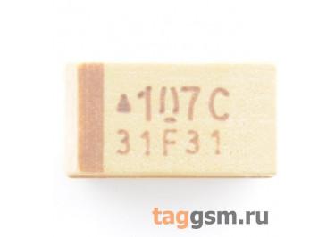 TAJC107K016R (CASE C) Конденсатор танталовый SMD 100 мкФ 16В 10%