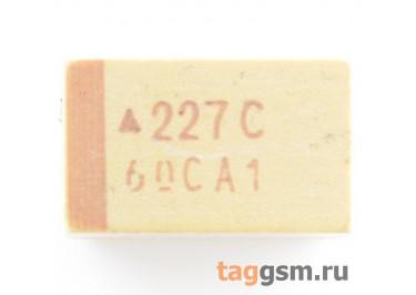 TAJE227K016R (CASE E) Конденсатор танталовый SMD 220 мкФ 16В 10%