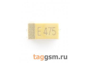 TAJA475K025R (CASE A) Конденсатор танталовый SMD 4,7 мкФ 25В 10%