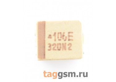 TAJB106K025R (CASE B) Конденсатор танталовый SMD 10 мкФ 25В 10%