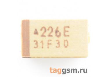 TAJC226K025R (CASE C) Конденсатор танталовый SMD 22 мкФ 25В 10%