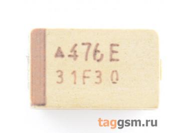 TAJD476K025R (CASE D) Конденсатор танталовый SMD 47 мкФ 25В 10%