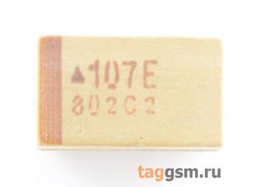 TAJE107K025R (CASE E) Конденсатор танталовый SMD 100 мкФ 25В 10%