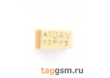 TAJA104K035R (CASE A) Конденсатор танталовый SMD 0,1 мкФ 35В 10%