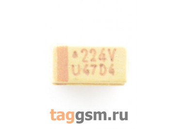 TAJA224K035R (CASE A) Конденсатор танталовый SMD 0,22 мкФ 35В 10%