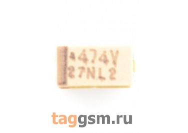 TAJA474K035R (CASE A) Конденсатор танталовый SMD 0,47 мкФ 35В 10%
