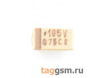 TAJA105K035R (CASE A) Конденсатор танталовый SMD 1 мкФ 35В 10%