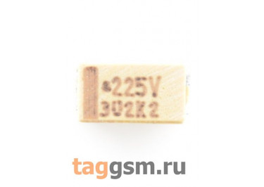 TAJA225K035R (CASE A) Конденсатор танталовый SMD 2,2 мкФ 35В 10%