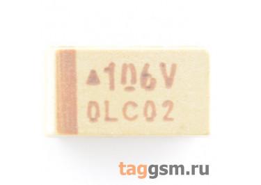 TAJC106K035R (CASE C) Конденсатор танталовый SMD 10 мкФ 35В 10%