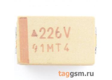 TAJD226K035R (CASE D) Конденсатор танталовый SMD 22 мкФ 35В 10%
