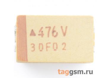 TAJD476K035R (CASE D) Конденсатор танталовый SMD 47 мкФ 35В 10%